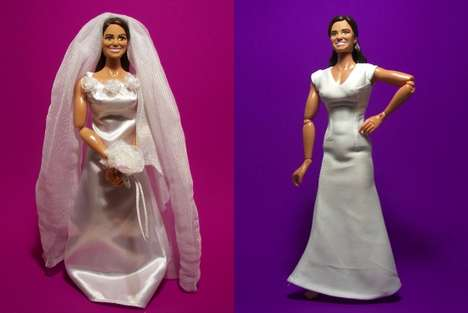 Royal Sister Action Figures - The Kate and Pippa Wedding Dolls are Not True to Size