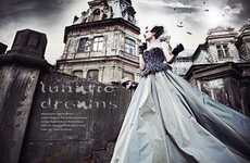 Fanciful Baroque Editorials - 'Lunatic Dreams' by Maciej Bernas Channels a Victorian Era