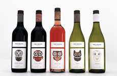 Emotive Owl Wine Bottles - The Whimsical Designs of Two Hoots Offers a Carefree Drinking Experience