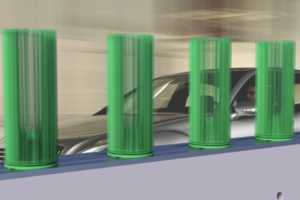 The Voltair Vertical Turbine Harnesses the Turbulent Air Behind Vehicles