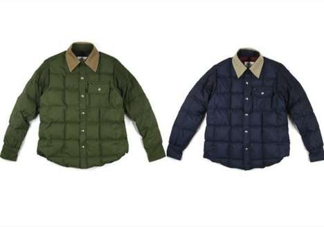 Padded Shell Shirts - The DQM Crescent Down Works Down Shirt Will Keep You Snuggly Warm this Winter