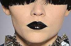 13 Bold Black Lipstick Editorials
