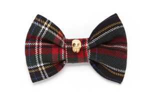 The Skull Tartan Bow Tie is Suave with an Attitude