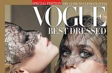 Lace-Masked Celeb Siblings - The Olsen Twins Vogue Cover Labels the Duo the Best Dressed Sisters