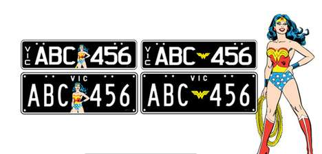 superhero license plates