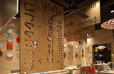 Funky Cut-Out Walls - Lah! Restaurant by IlmioDesign Features Fun & Quirky Accents