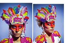 Psychedelic Feather Headdresses