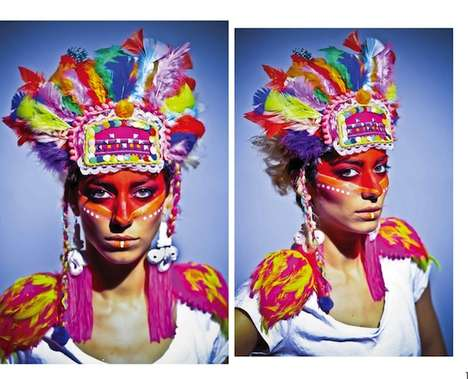 Psychedelic Feather Headdresses  - The Ailin Bisi AW12 Collection is Filled with Trippy Accessories