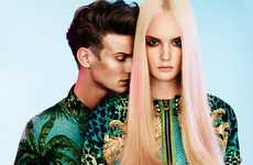 Faint Pink Streaks - The Henrietta Hellberg 'Rodeo' Spread Showcases All Versace for H&M Fashion