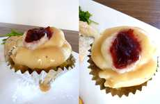 Mini Holiday Meal Munchies - Thanksgiving Meal Cupcakes Demonstrate Fun Portion Control
