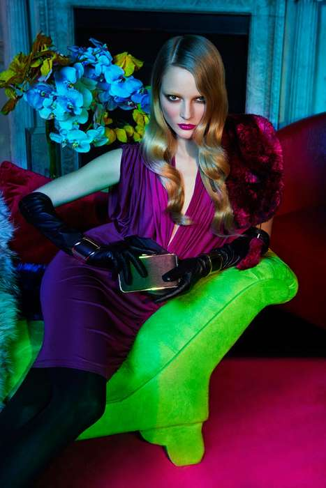 Luscious Lime Green Lookbooks - Ieva Laguna for Le Chateau Holiday 2011 Campaign is Super Seductive