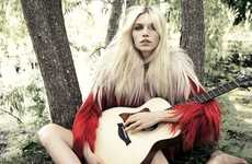 Haunting Hippie Chic Editorials - The Aline Weber for Muse Fall 2011 Editorial is Stunningly Serene