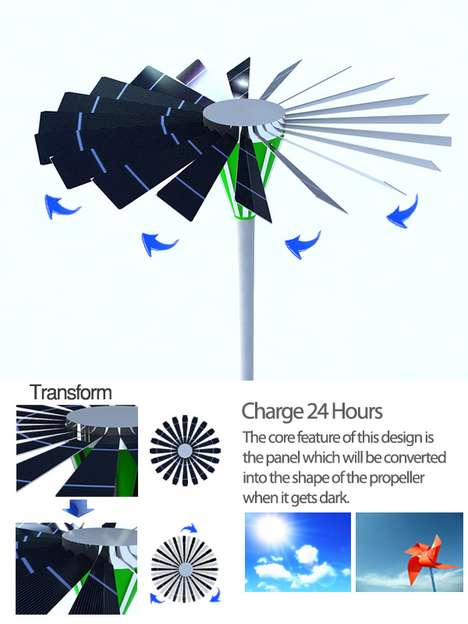 Solar Windmill Light