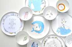 Whimsical Earth-Friendly Plates - Smiling Planet Uses Organic and Sustainable Methods of Production