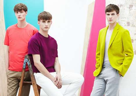 Color-Blocking Menswear Editorials
