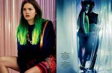 Neon-Sparked Tresses - The Bon Magazine Issue 59 Springs 2012 Collection Features Feisty Models