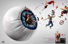 Bouncy Eyeball Camera Campaigns - The LG Optimus 3D Ad Captures the Full Experience
