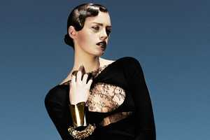 The Milly Simmonds Plaza Kvinna Spread is Elegantly Gothic