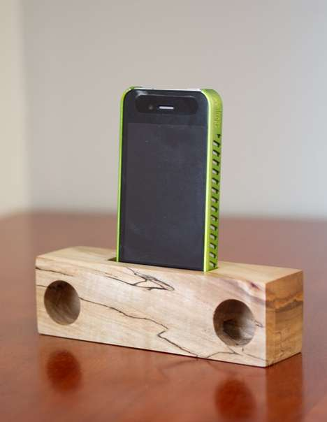 wooden iphone speakers