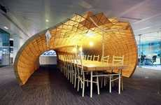 Insect-Inspired Office Additions - The Pupa Pavilion is a Creative and Green Meeting Space