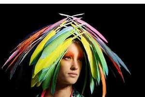 From Parrot-Hued Headdresses to Alienesque Paper Hats