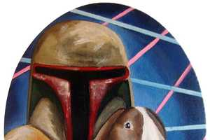 Kerry Kerrigan Inserts Rabbits into Star Wars Character Portraits