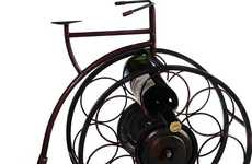 Cyclist Vino Holders - The Penny-Farthing Wine Rack is Delightfully Vintage