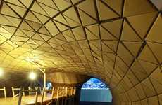 Cardboard Constructed Interiors - The Bloomberg Meeting Space by Lazerian is Paper-Made