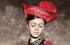 Hot Headpiece-Centered Shoots - Jyothsna Chakravarthy for Vogue India November 2011 is Exotic