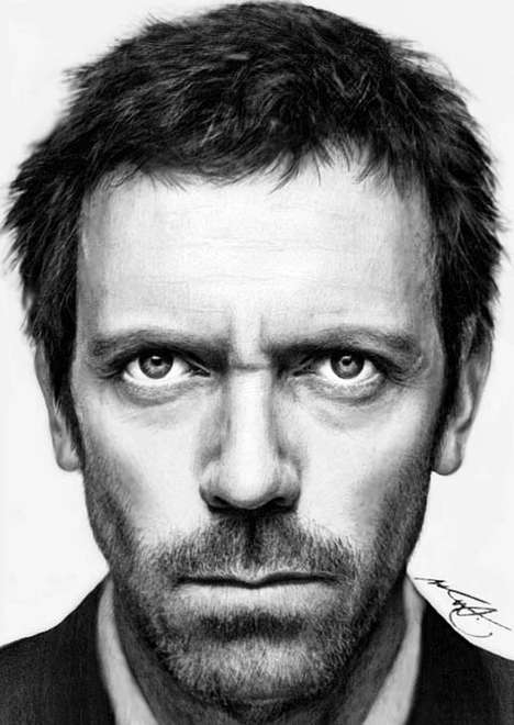 Intricate Celebrity Sketches - The Geinen Art is an Incredibly Unbelievable Series of Portraits