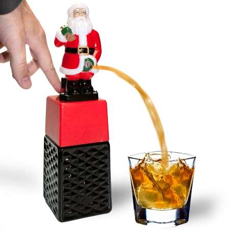 Lewd Father Christmas Figures - Santa Claus Drink Dispenser Shows St. Nick's Unpleasant Side