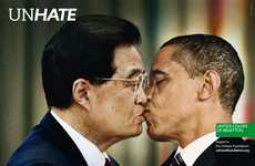 Provocative Political Makeout Ads - The Bennetton 'UNHATE' Campaign Unites World Leaders