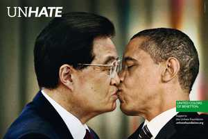 The Bennetton 'UNHATE' Campaign Unites World Leaders