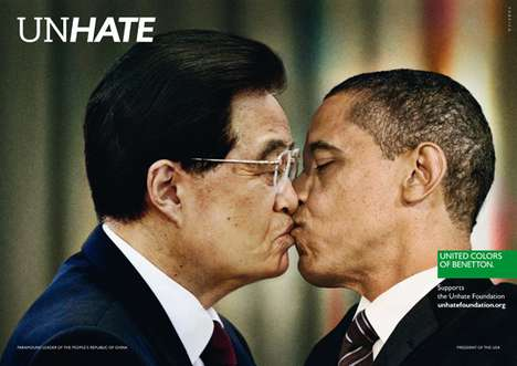 bennetton unhate campaign