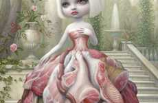 Morbid Meat Suit Paintings (UPDATE) - The Mark Ryden Covers for Juxtapoz are a Hard-Hitting Series