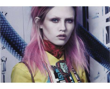 14 Cool Kasia Struss Captures - From Disheveled Ensemble Editorials to Funky Fishnet Fashion