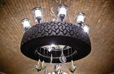 Tremendous Tire Chandeliers