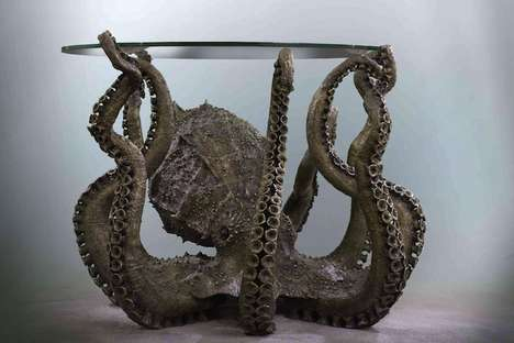 Sea Creature Furniture - Isaac Krauss's Octopus Table is Eerily Realistic
