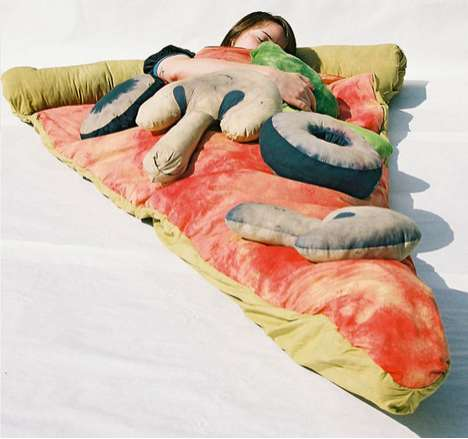 Gourmet Culinary Bedding - Stay Warm and Toasty in the Scrumptious Pizza Sleeping Bag