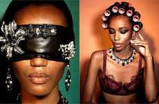 Diamond-Encrusted Blindfolds - The Nadja Girmata for Vogue Italia Photo Shoot is Extravagant