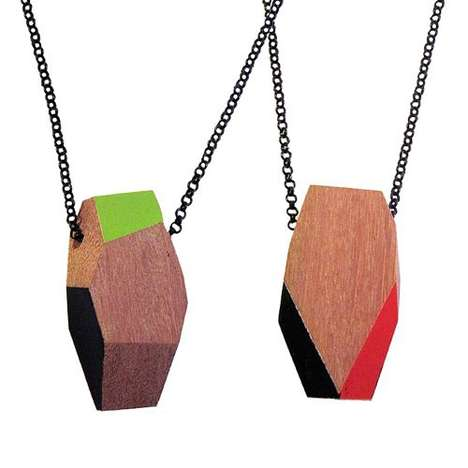 Geometric Wooden Necklaces - TreeHorn Design Creates Reclaimed Timber Accessories