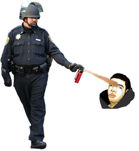 Pepper Spraying Cop