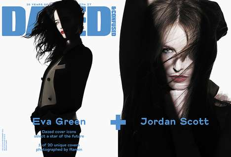 Film Noir-Style Shoots (UPDATE) - Rankin's Dazed and Confused Covers Redefines the Editorial