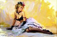 Playful Russian Impressionist Pin-Ups