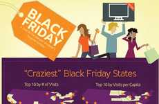 Insane Holiday Shopping Infographics - 'Crazy for Black Friday Deals' Highlights Buyer Budgets