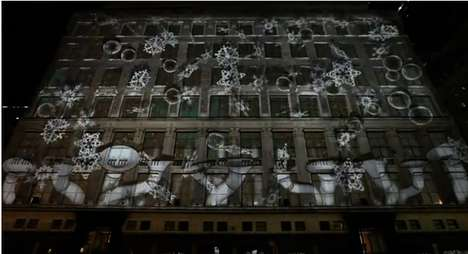 Saks Fifth Avenue 3D Projection