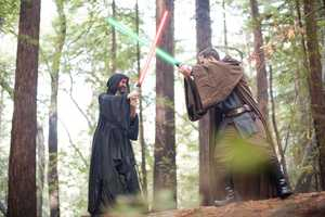 The Star Wars Engagement Photo Shoot is Romantically Geeky