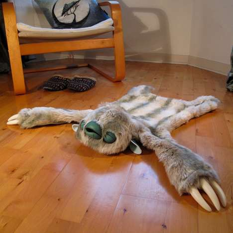 Fictional Animal Skins - The Custom Monster Rug Adds a Touch of Whimsy to Any Room