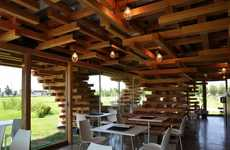 Jenga-Inspired Architecture - The Cafe Kureon by Kengo Kuma and Associates is Multi-Dimensional