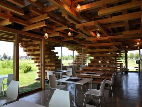 Cafe Kureon by Kengo Kuma and Associates